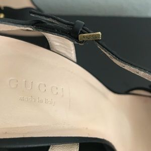 8473ad7348cd Gucci Shoes - Gucci Double G Heeled Sandals Size  40